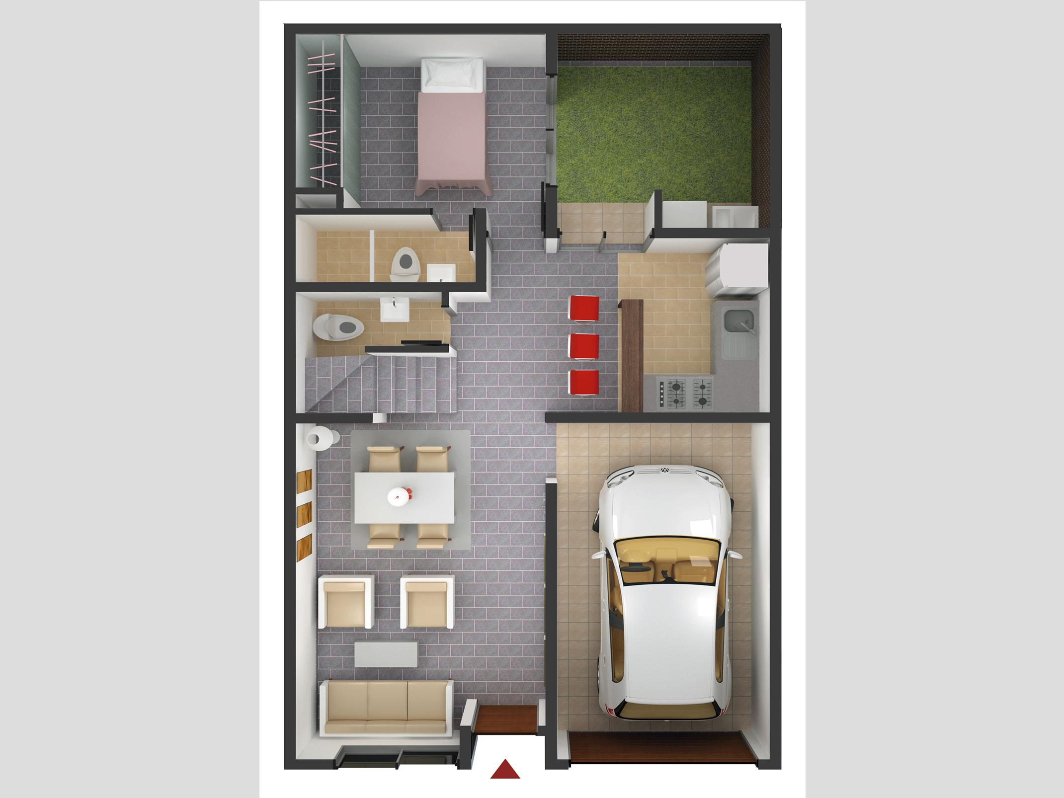 Primer Nivel Casa Tipo 1